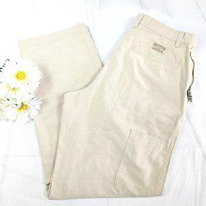 Columbia Khaki Stone Washed Granite Cloth Pants